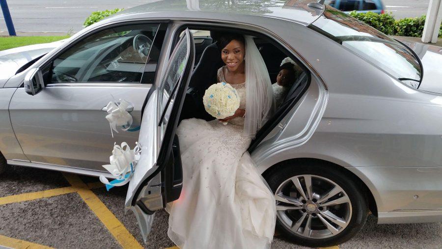 Mercedes Benz Wedding Bride Rear Car Seat