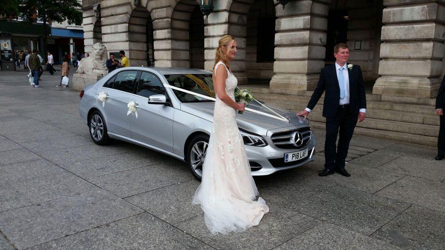 Mercedes Benz Wedding Car Nottingham City Centre
