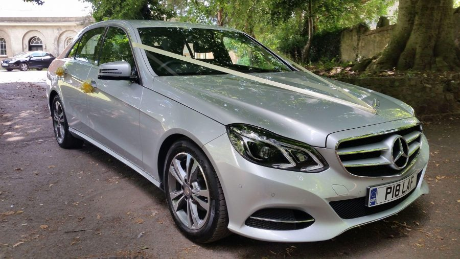 Mercedes Benz Wedding Car Parked Ivory